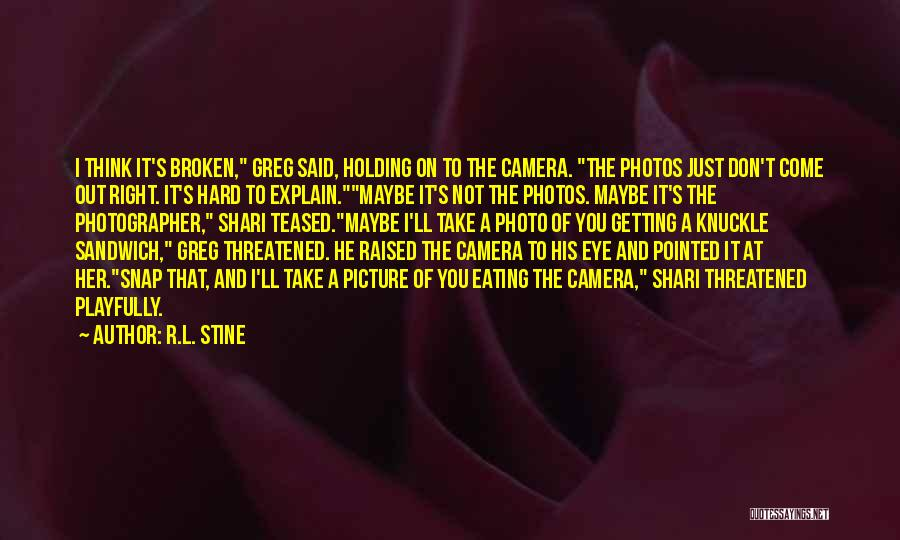 Take Photos Quotes By R.L. Stine