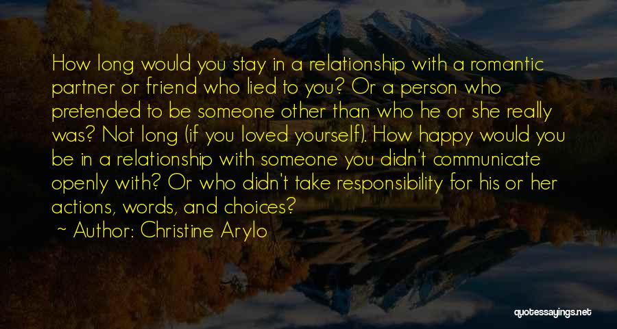 Take Responsibility For Your Own Actions Quotes By Christine Arylo
