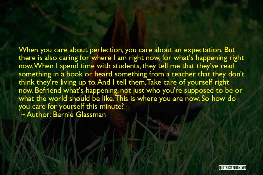 Take Time To Care Quotes By Bernie Glassman