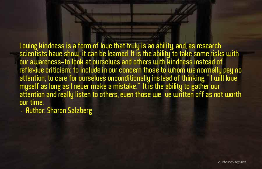 Take Time To Care Quotes By Sharon Salzberg