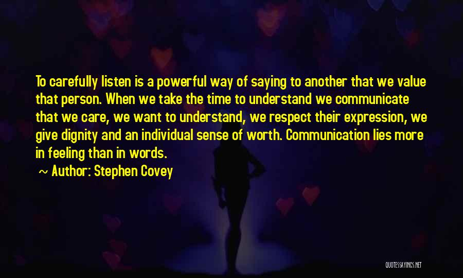 Take Time To Care Quotes By Stephen Covey