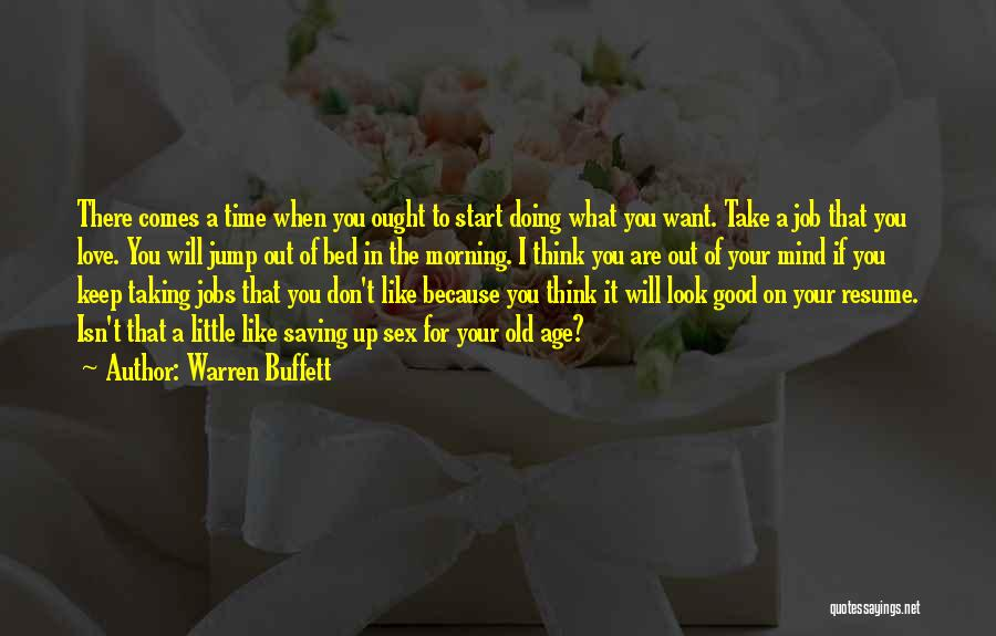 Take Your Time Love Quotes By Warren Buffett