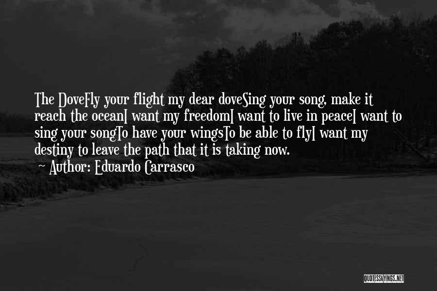 Taking Flight Quotes By Eduardo Carrasco