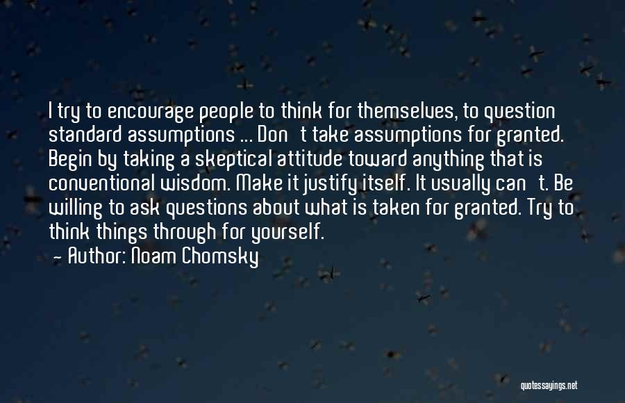Taking Her For Granted Quotes By Noam Chomsky