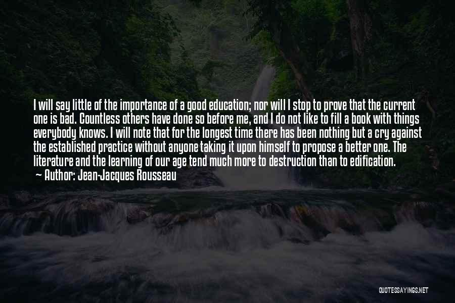 Taking Note Quotes By Jean-Jacques Rousseau