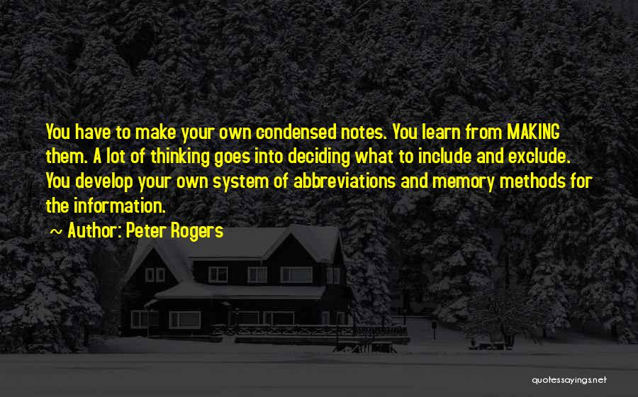 Taking Note Quotes By Peter Rogers