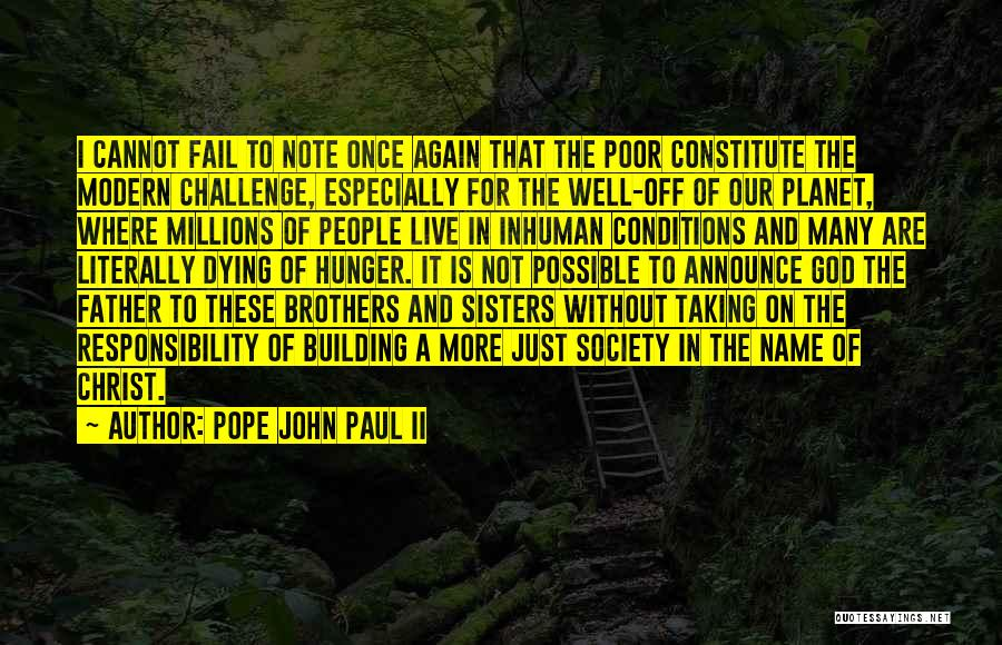 Taking Note Quotes By Pope John Paul II