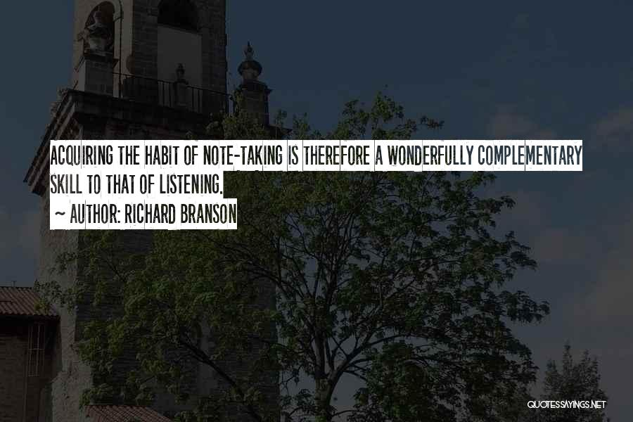 Taking Note Quotes By Richard Branson