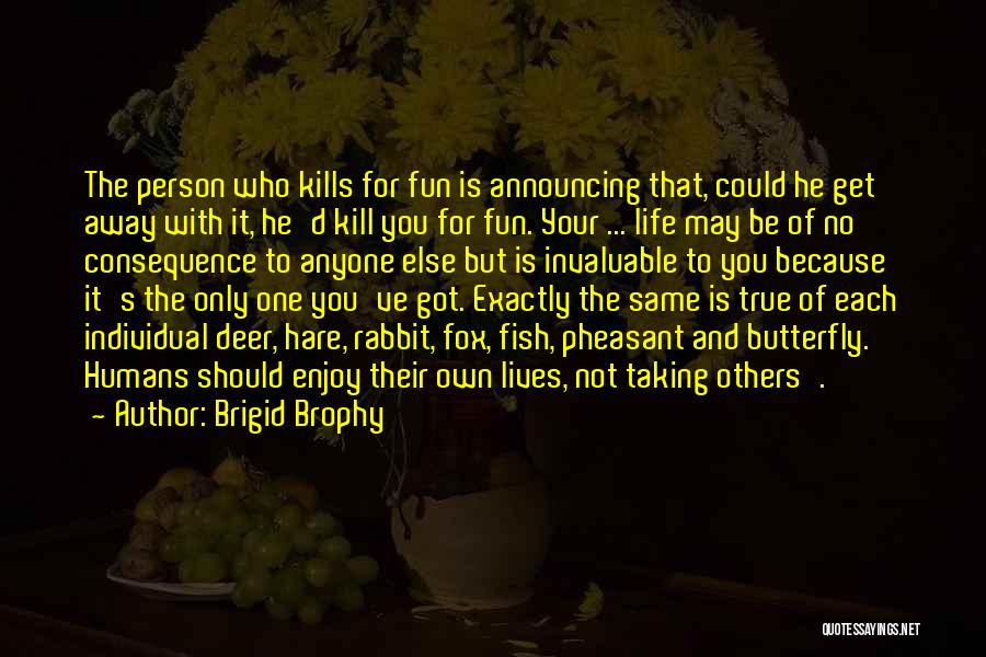 Taking One's Life Quotes By Brigid Brophy