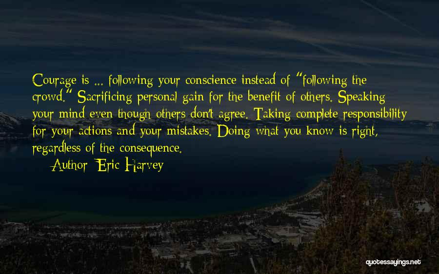 Taking Personal Responsibility Quotes By Eric Harvey