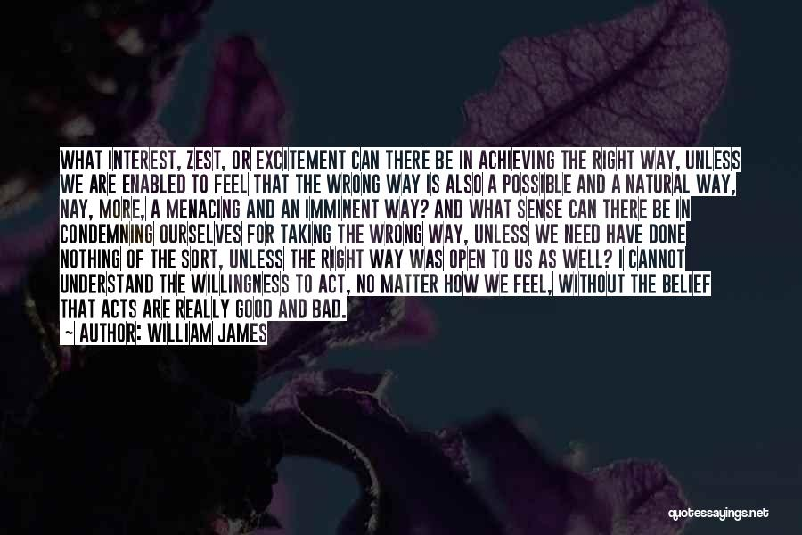 Taking Things Wrong Way Quotes By William James