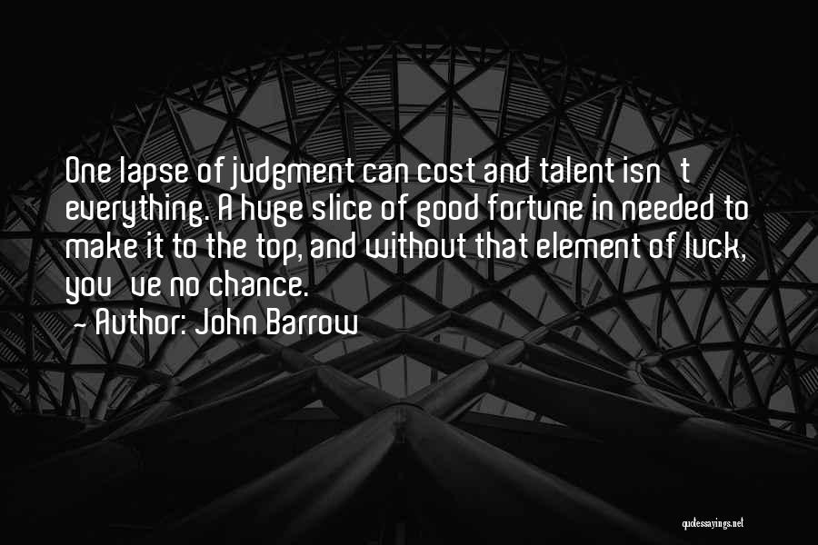 Talent And Luck Quotes By John Barrow