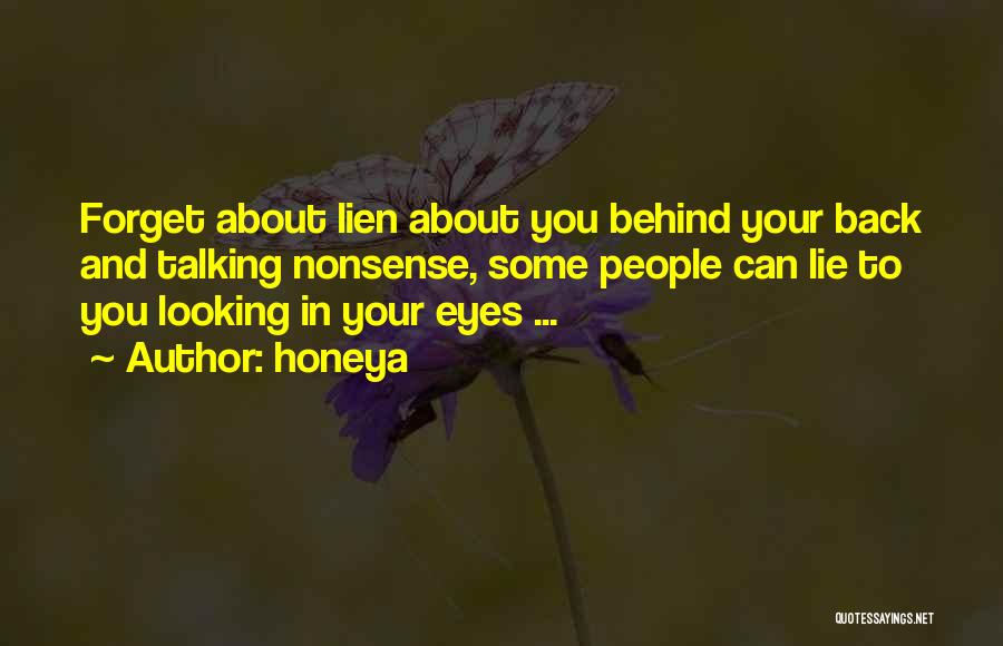 Talking About Behind Someone's Back Quotes By Honeya