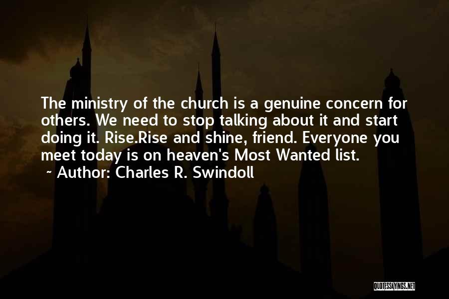 Talking And Doing Quotes By Charles R. Swindoll