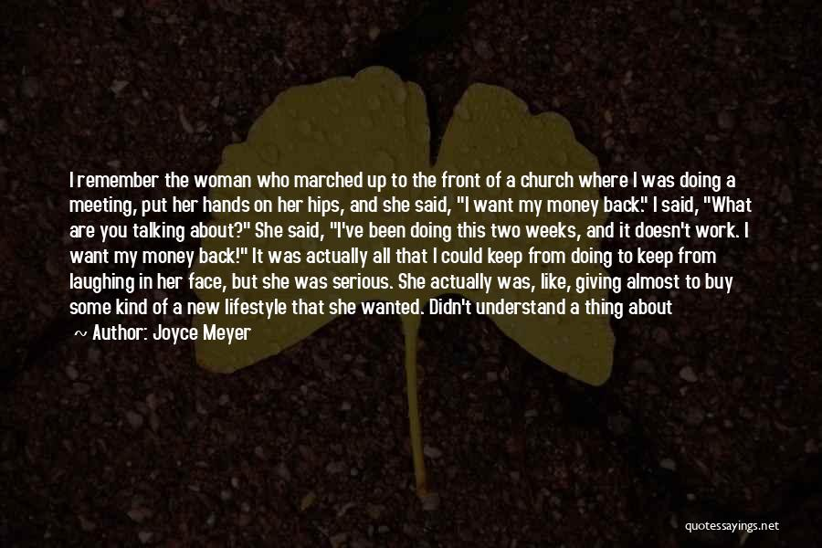 Talking And Doing Quotes By Joyce Meyer