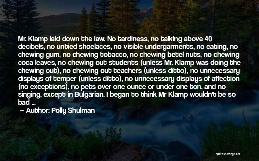 Talking Down To Others Quotes By Polly Shulman