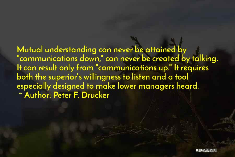 Talking To Myself But I Never Listen Quotes By Peter F. Drucker