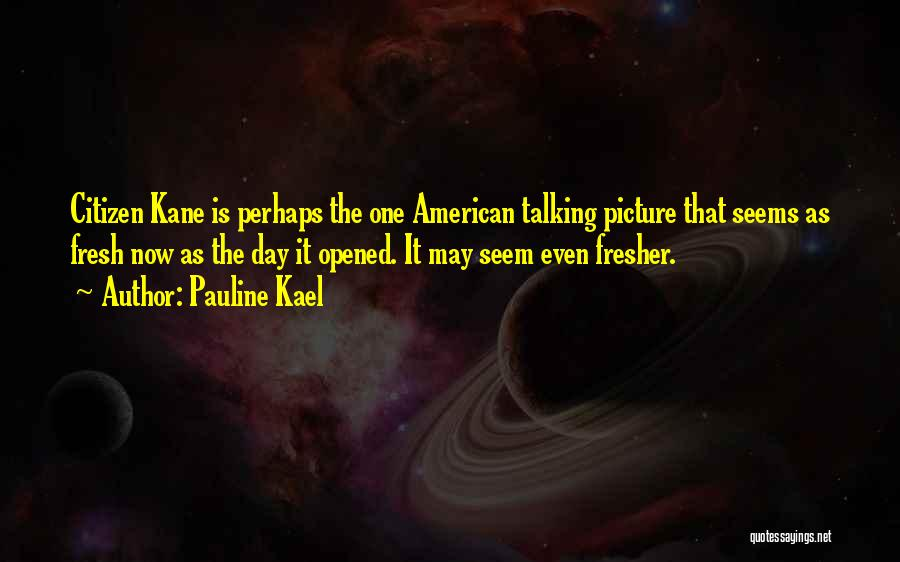 Talking To You Picture Quotes By Pauline Kael