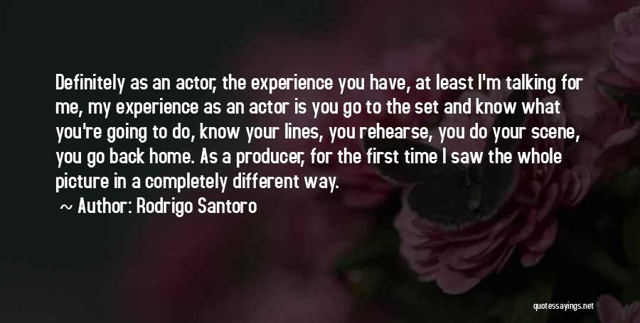 Talking To You Picture Quotes By Rodrigo Santoro