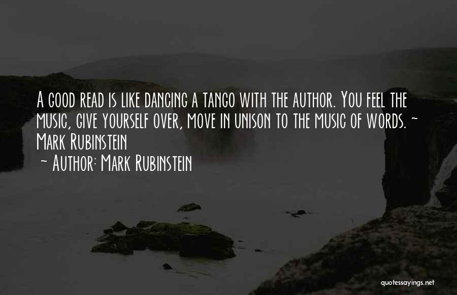 Tango Music Quotes By Mark Rubinstein