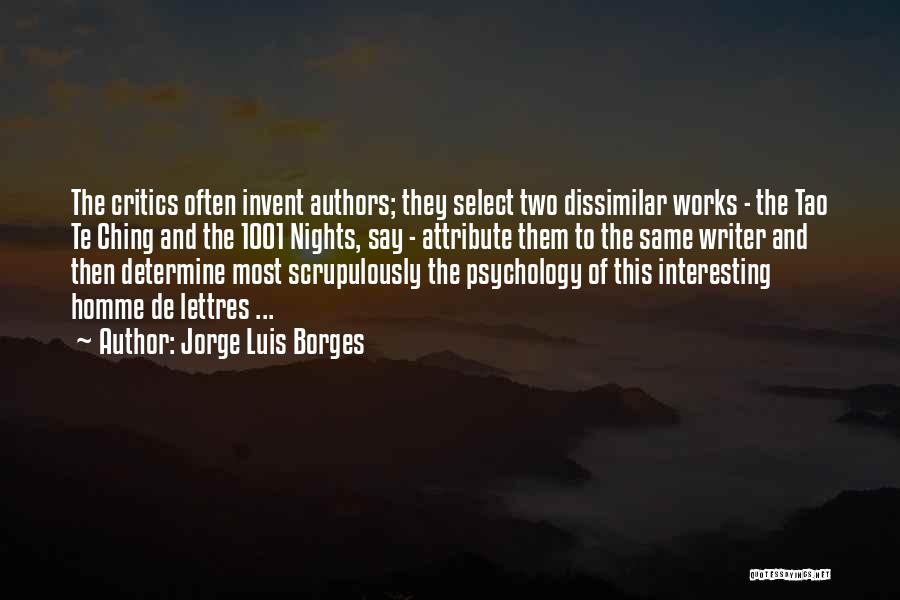 Tao Ching Quotes By Jorge Luis Borges