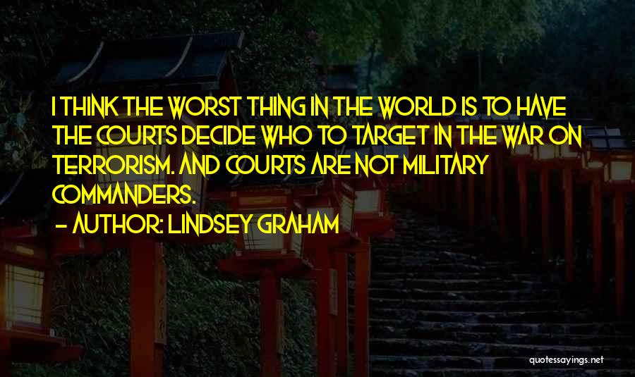Target Quotes By Lindsey Graham