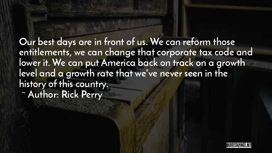 Tax Reform Quotes By Rick Perry