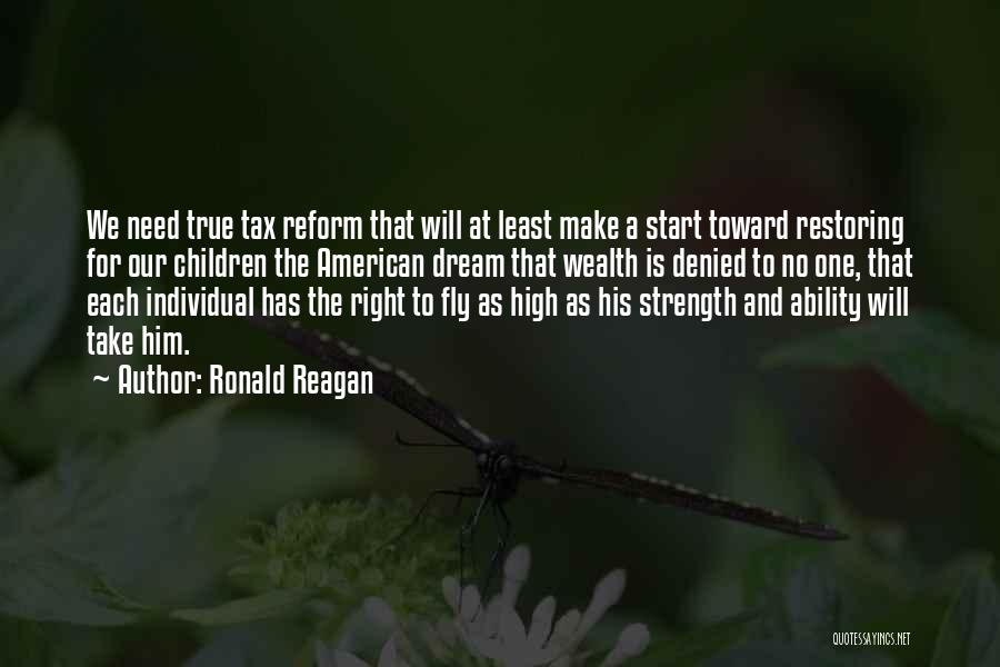 Tax Reform Quotes By Ronald Reagan
