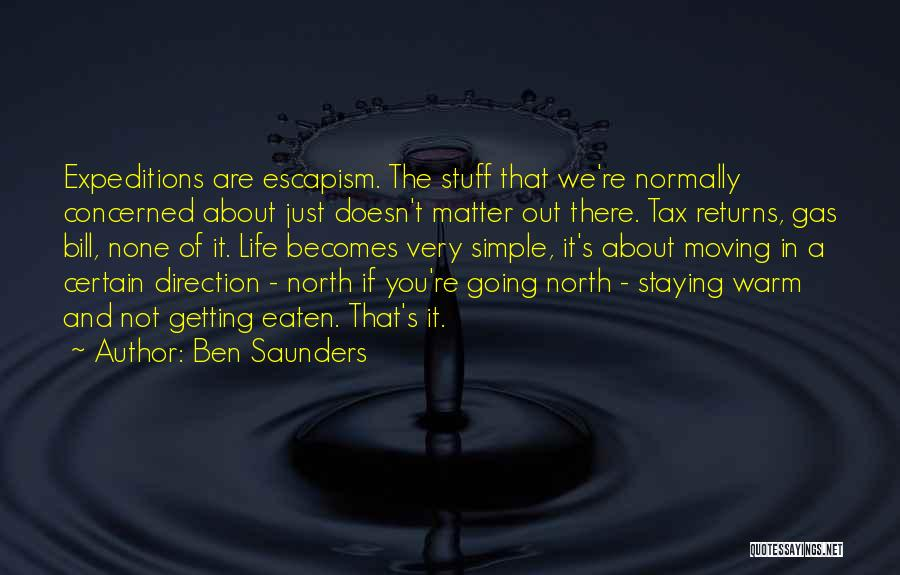 Tax Returns Quotes By Ben Saunders