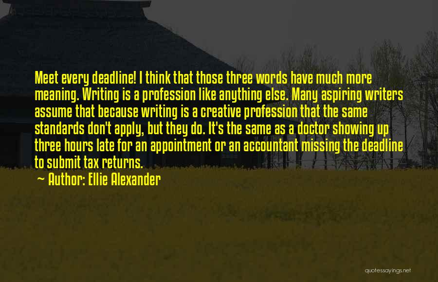 Tax Returns Quotes By Ellie Alexander