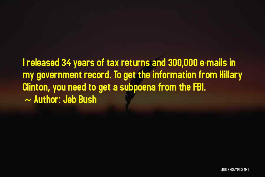 Tax Returns Quotes By Jeb Bush