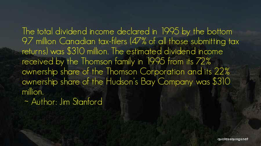 Tax Returns Quotes By Jim Stanford