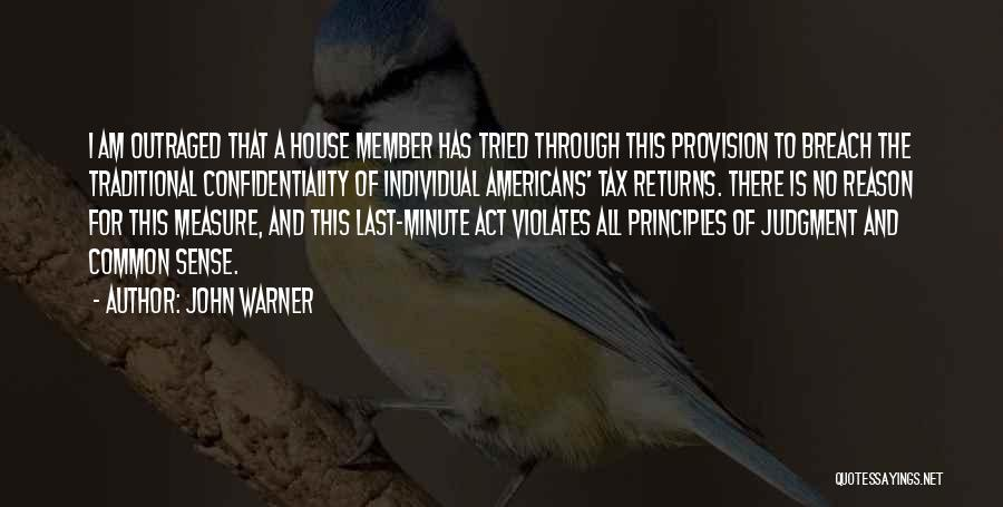 Tax Returns Quotes By John Warner