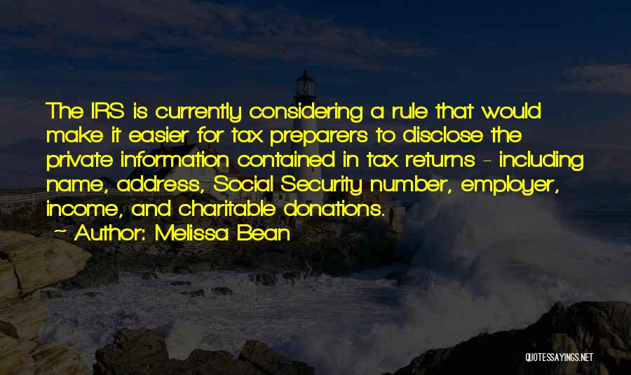 Tax Returns Quotes By Melissa Bean