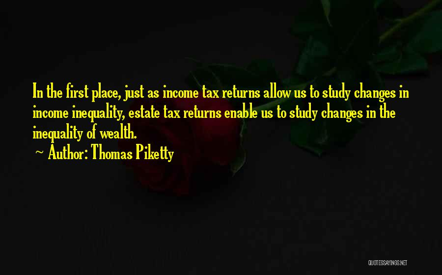 Tax Returns Quotes By Thomas Piketty