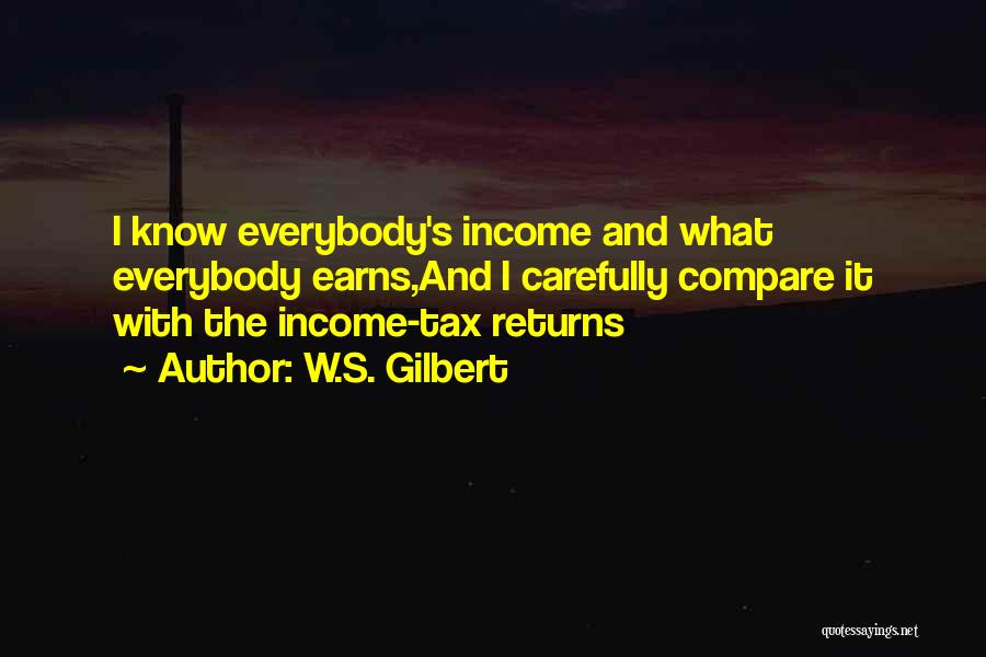 Tax Returns Quotes By W.S. Gilbert