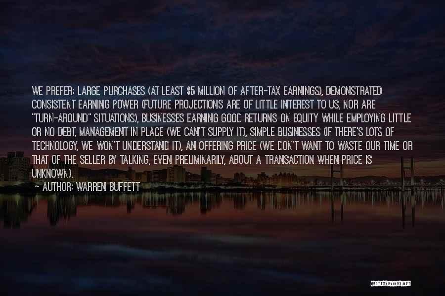 Tax Returns Quotes By Warren Buffett