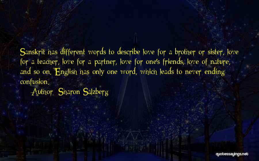 Teachers In Sanskrit Quotes By Sharon Salzberg