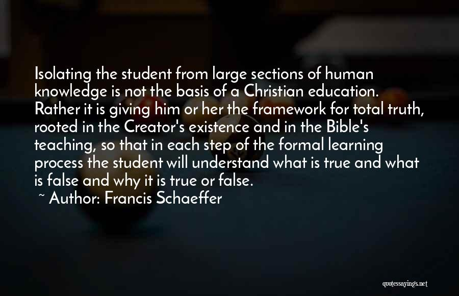 Teaching Learning And Education Quotes By Francis Schaeffer
