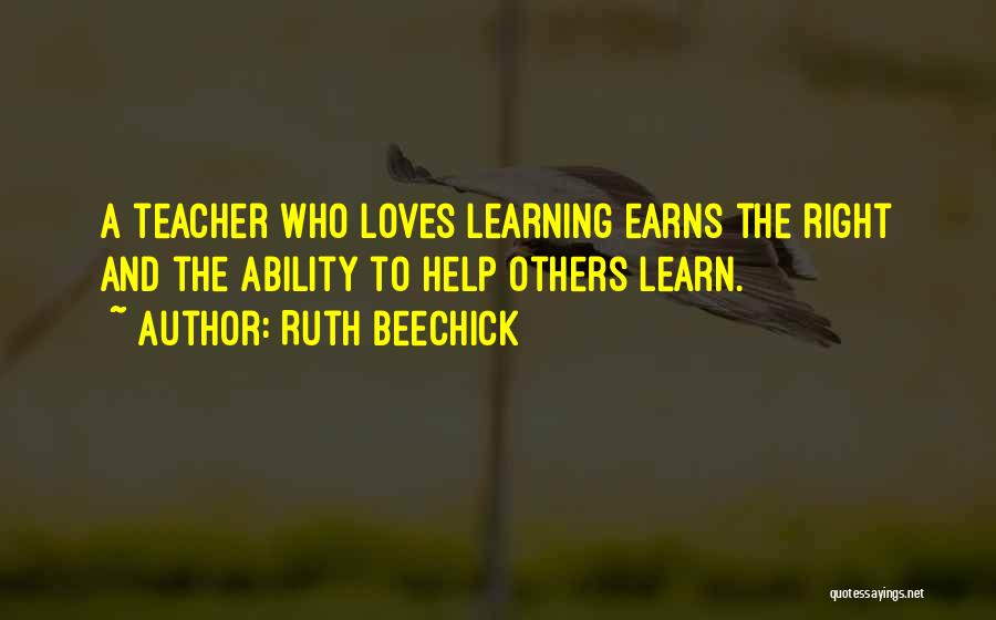 Teaching Learning And Education Quotes By Ruth Beechick