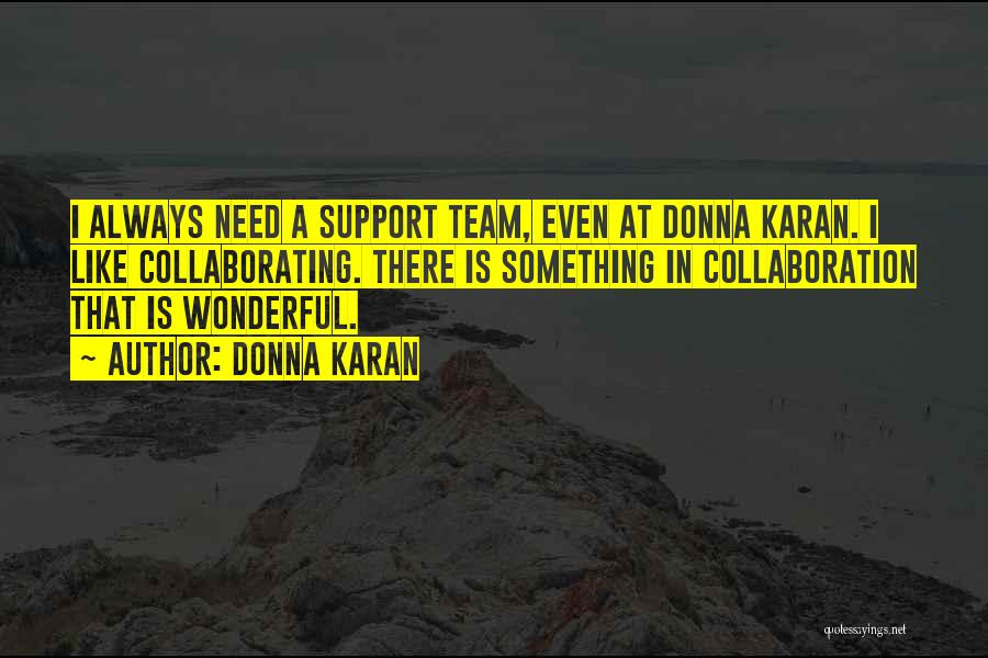 Team And Collaboration Quotes By Donna Karan