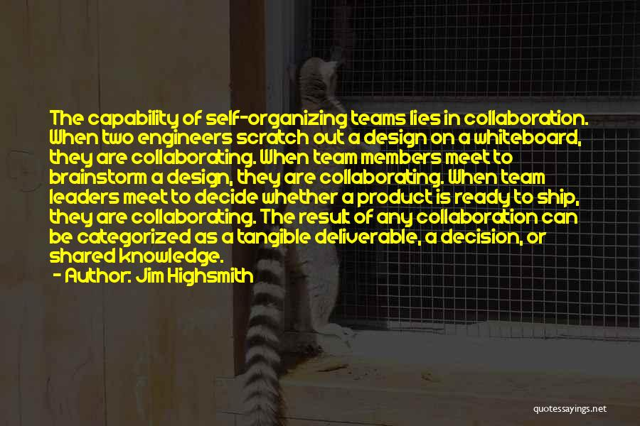 Team And Collaboration Quotes By Jim Highsmith