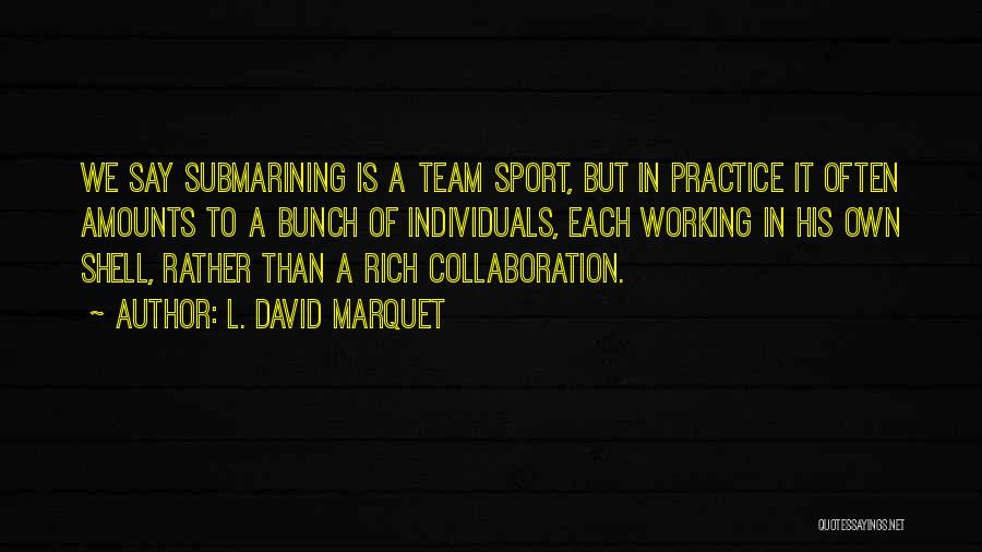 Team And Collaboration Quotes By L. David Marquet