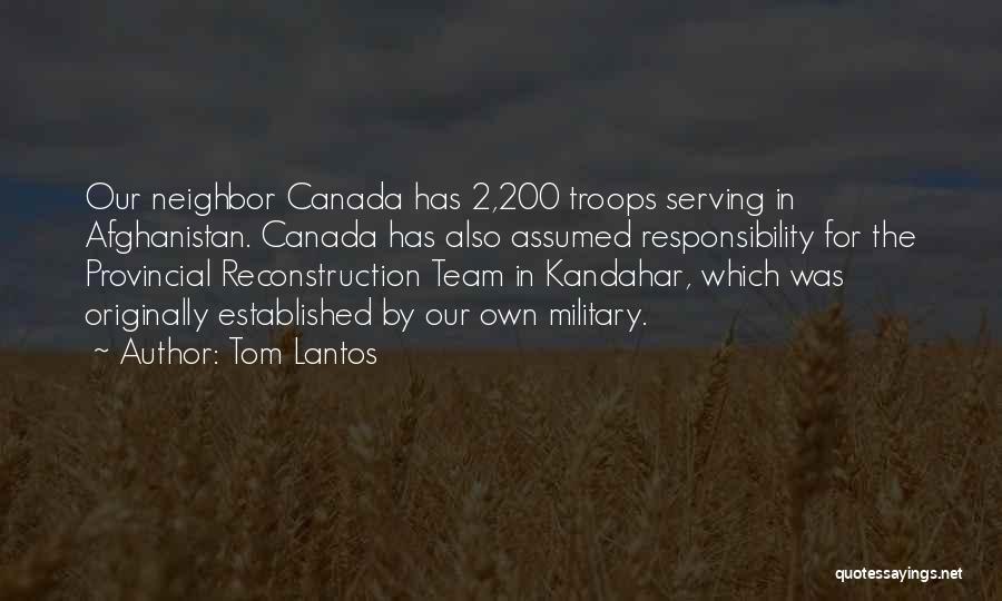 Team Canada Quotes By Tom Lantos