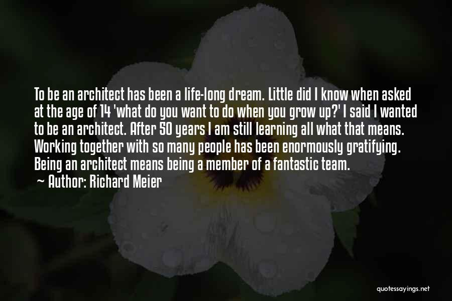 Team Member Quotes By Richard Meier