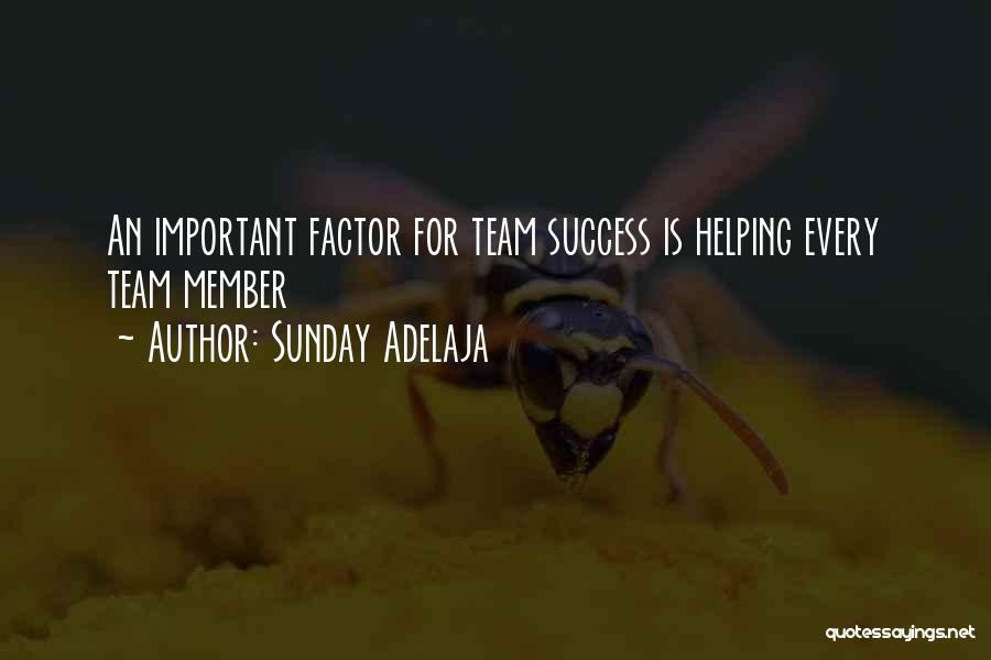 Team Member Quotes By Sunday Adelaja