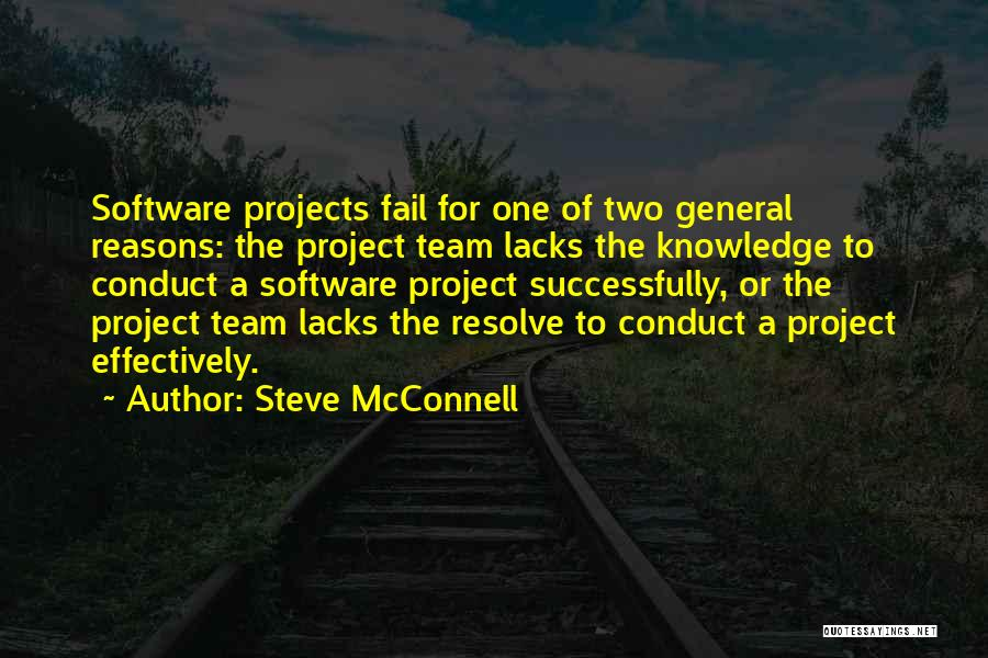 Teamwork Quotes By Steve McConnell
