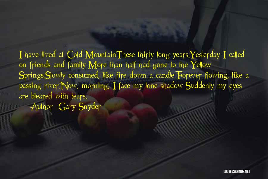 Tears Flowing Quotes By Gary Snyder