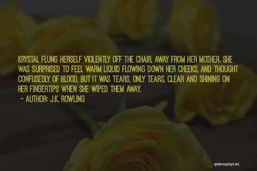 Tears Flowing Quotes By J.K. Rowling
