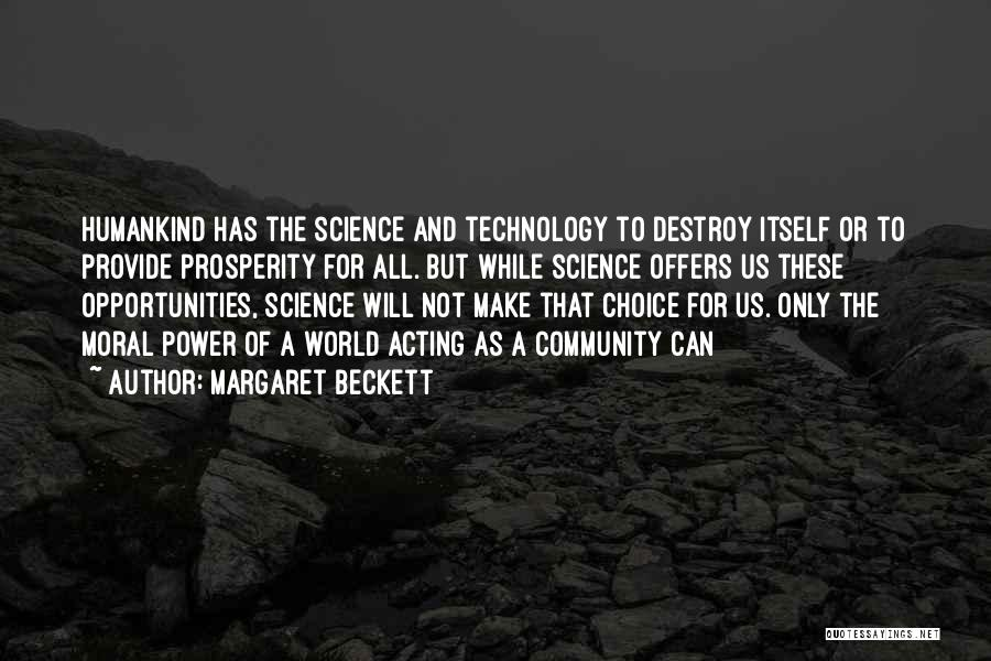 Technology And The Future Quotes By Margaret Beckett
